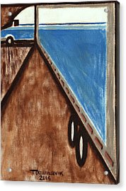 Acrylic Print featuring the painting Tommervik Semi Stuck Art Print by Tommervik