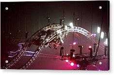 Tommy Lee Motley Crue Farewell Tour Brooklyn N Y 2015 Or Flying Drums Acrylic Print by Rob Hans