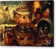 Tondals Vision Acrylic Print by Hieronymus Bosch