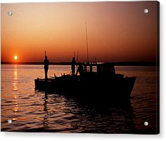 Tonger's Sunrise Acrylic Print by Skip Willits