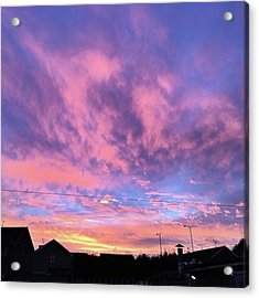 Tonight's Sunset Over Tesco :) #view Acrylic Print
