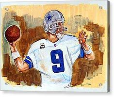 Tony Romo Acrylic Print by Dave Olsen