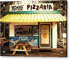 Tony's Pizzaria Acrylic Print by Ron Regalado