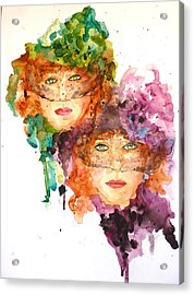 Acrylic Print featuring the painting Too Faced by P Maure Bausch