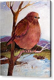 Acrylic Print featuring the painting Too Fat To Fly by Diane Ursin