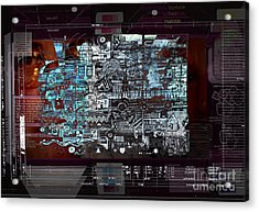 Too Much Information  Acrylic Print by Andy  Mercer