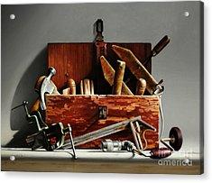 Tool Box #2 Acrylic Print by Larry Preston