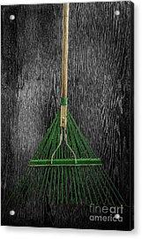 Tools On Wood 10 On Bw Acrylic Print by YoPedro