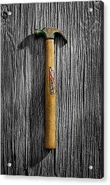 Tools On Wood 17 On Bw Acrylic Print by YoPedro