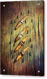 Tools On Wood 46 Acrylic Print by YoPedro