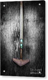 Tools On Wood 5 On Bw Acrylic Print by YoPedro