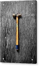 Tools On Wood 51 On Bw Acrylic Print by YoPedro