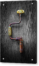 Tools On Wood 61 On Bw Acrylic Print by YoPedro