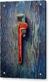 Tools On Wood 62 Acrylic Print by YoPedro