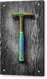 Tools On Wood 63 On Bw Acrylic Print by YoPedro