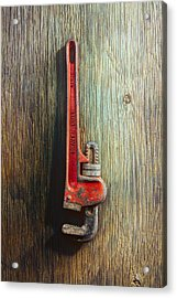 Tools On Wood 70 Acrylic Print by YoPedro