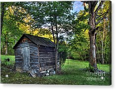 Toolshed Acrylic Print by Pete Hellmann