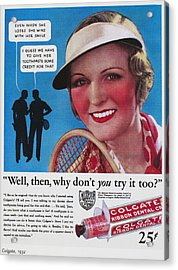 Toothpaste Ad, 1932 Acrylic Print by Granger