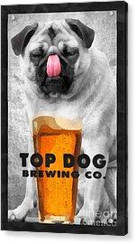 Top Dog Brewing Co Acrylic Print by Edward Fielding