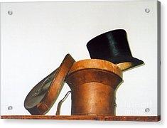 Top Hat Acrylic Print by Andrea Simon