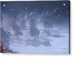 Top Of Boulder Canyon Winter Snow Acrylic Print by James BO  Insogna