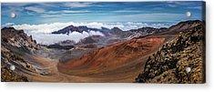 Top Of Haleakala Crater Acrylic Print