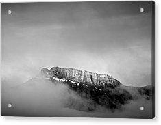 Top Of Mount Rundle II Acrylic Print by Jon Glaser