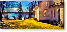 Top Of The Hill, Friendship, Maine Acrylic Print by Dave Higgins