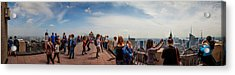Top Of The Rock Experience Acrylic Print by Az Jackson