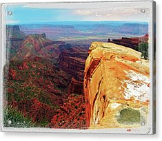 Acrylic Print featuring the digital art Top Of The World by Gary Baird