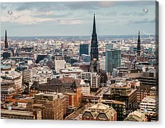 Top View Of Hamburg Acrylic Print