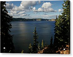 Top Wow Spot - Crater Lake In Crater Lake National Park Oregon Acrylic Print by Christine Till