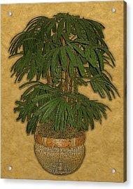 Topiary 4 Acrylic Print by Carol Peck