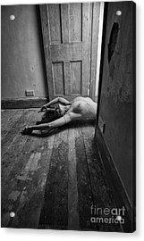Topless Woman In Doorway Acrylic Print
