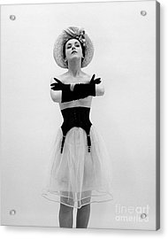 Topless Woman With Long Gloves, C.1950s Acrylic Print by Corry/ClassicStock