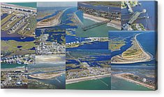 Topsail Island History From Above  Acrylic Print