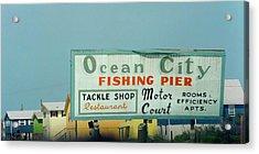 Topsail Island Ocean City 1996 Acrylic Print by Betsy Knapp