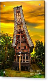 Toraja Architecture Acrylic Print by Charuhas Images