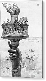 Torch Of Statue Of Liberty, 1885 Acrylic Print