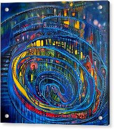 Torley World Tribute Acrylic Print by Wispy Broome aka Joan Kamaru