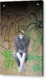 Torn Acrylic Print by Jez C Self