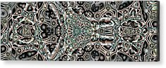 Acrylic Print featuring the digital art Torn Patterns by Ron Bissett