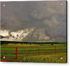 Acrylic Print featuring the photograph Tornado At The Ranch by Ed Sweeney