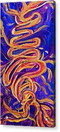 Acrylic Print featuring the painting Tornado Swirls by Claire Bull