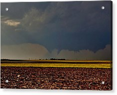 Acrylic Print featuring the photograph Tornadoes Across The Fields by Ed Sweeney