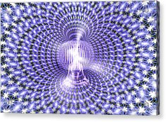 Acrylic Print featuring the painting Toroidal Hologram by Robby Donaghey