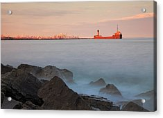 Toronto At Dusk Acrylic Print by Charline Xia