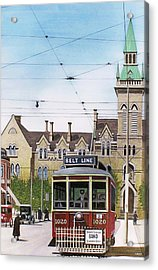 Acrylic Print featuring the painting Toronto Belt Line by Kenneth M Kirsch