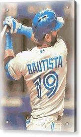 Toronto Blue Jays Jose Bautista 2 Acrylic Print by Joe Hamilton