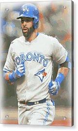 Toronto Blue Jays Jose Bautista Acrylic Print by Joe Hamilton